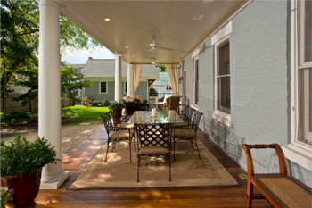 Porch remodel by Saratoga Springs general contractor and kitchen and bath remodeler Teakwood Builders.