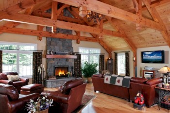 Great room and fireplace. The home construction warranty of Capital Region and Saratoga Springs general contractor and remodeler Teakwood Builder treats you as a client for life.