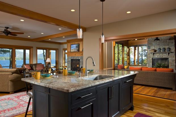 Custom kitchen design by Saratoga Springs general contractor Teakwood Builders.