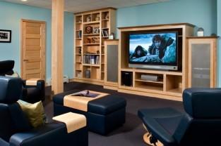Modern Basement Comfort