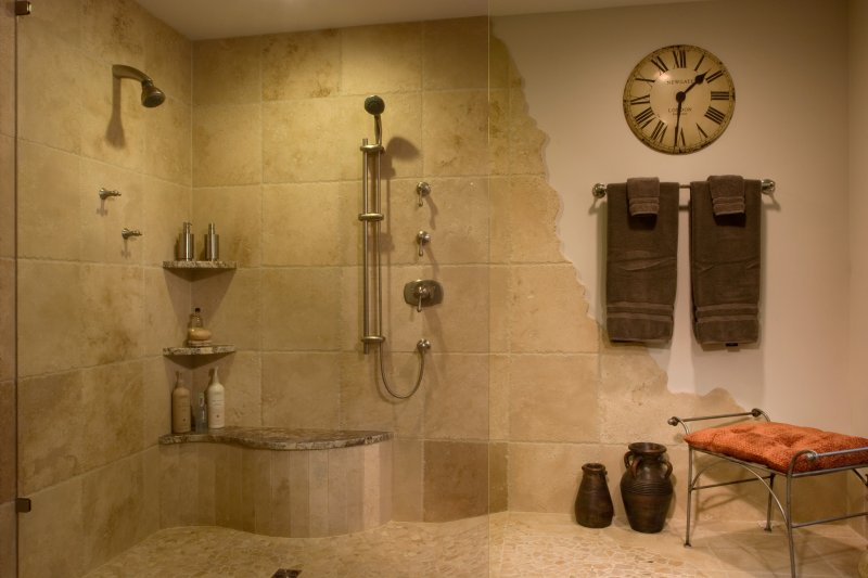 showered in luxury teakwood builders - Luxury Open Showers