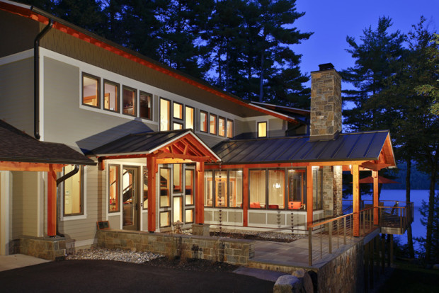 A luxurious new home in Lake George NY by general contractor and remodeler Teakwood Builders in Saratoga Springs.