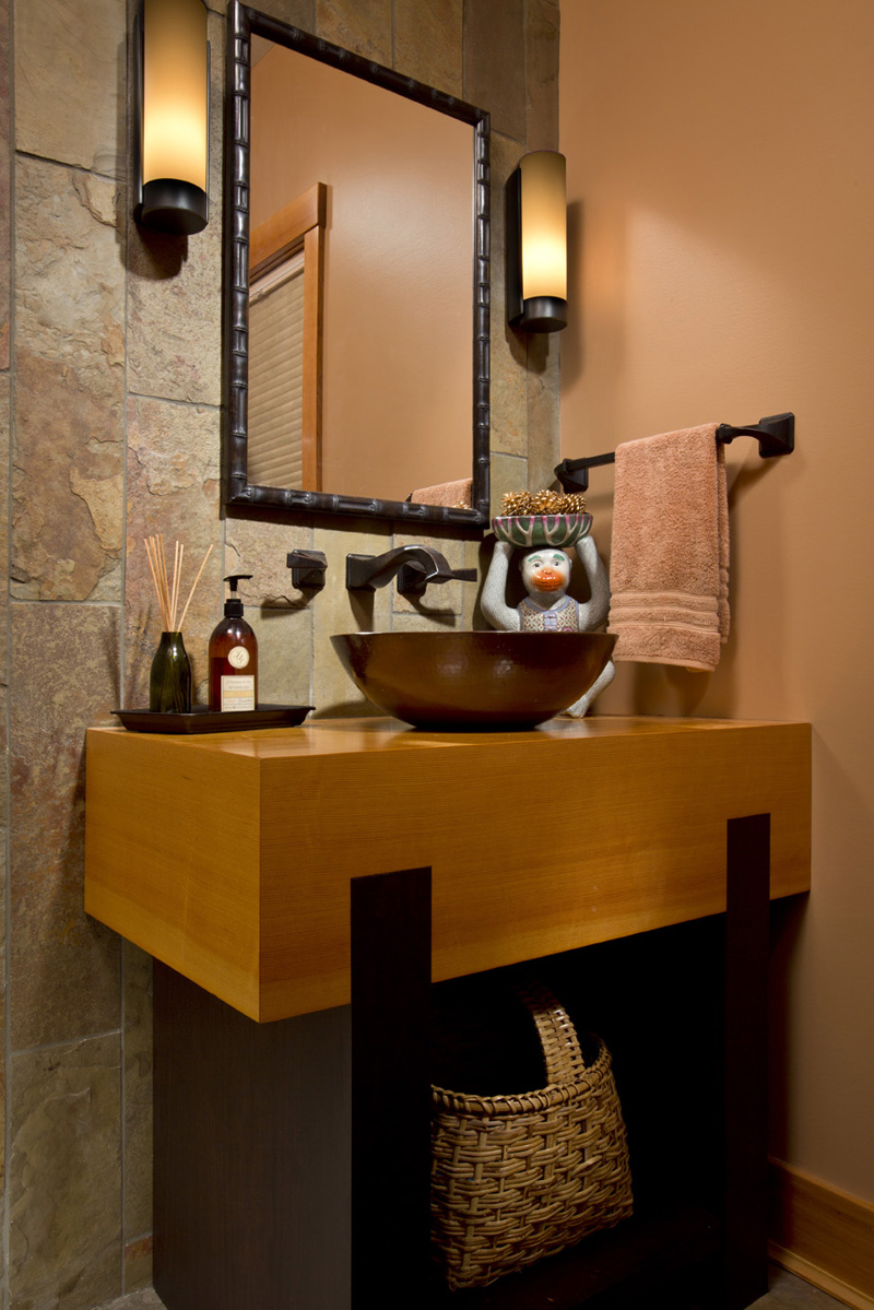 This Asian Inspired Bathroom Design By Teakwood Builders Of Saratoga  Springs, NY, Uses