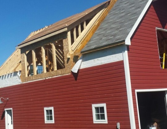 Teakwood Builders barn renovation dormer window addition