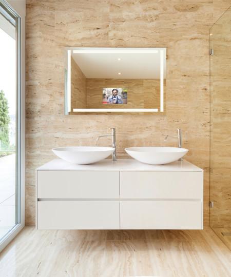 Lighting the throne room teakwood builders - Bathroom mirrors with built in lights ...