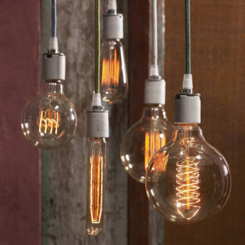 A touch of nostalgia: Industrial Incandescent Bulbs by Clermont Furniture & Accessories Iron Accents; Teakwood Builders, kitchen and bath remodeler, custom home builder and general contractor Saratoga Springs and Capital Region