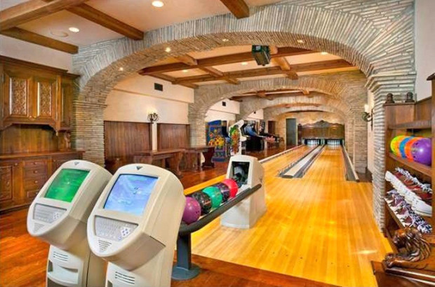 Home bowling alley and arcade
