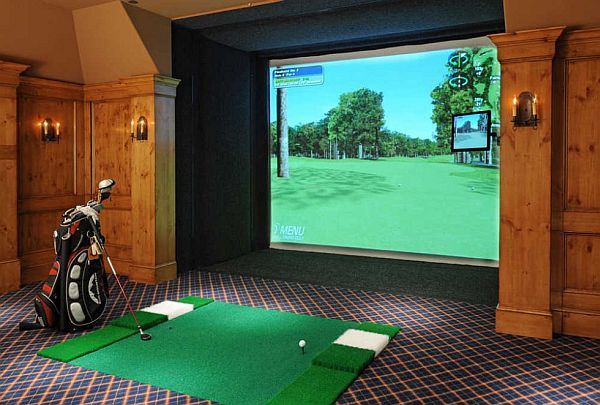 Home Game Room Golf Course Teakwood Builders
