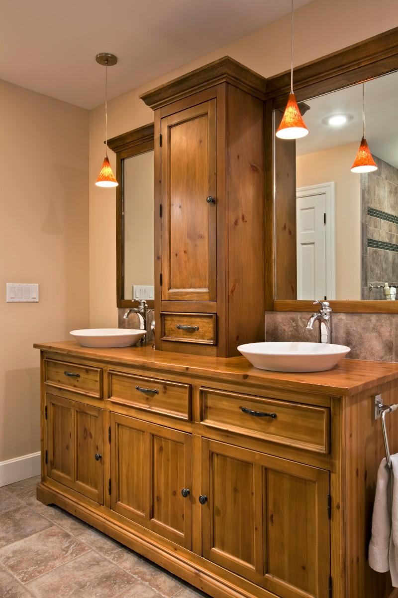 Bathroom Design His And Hers Vessel Sinks Teakwood Builders - Bathroom remodel saratoga springs ny