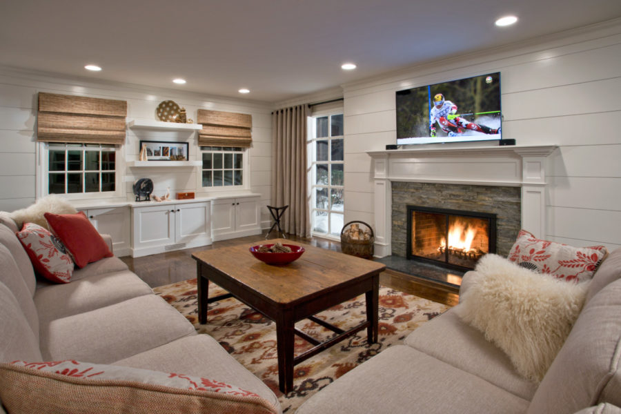 A warm and cozy living room is perfect for the frigid northern winters