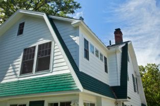 New Addition green shingles