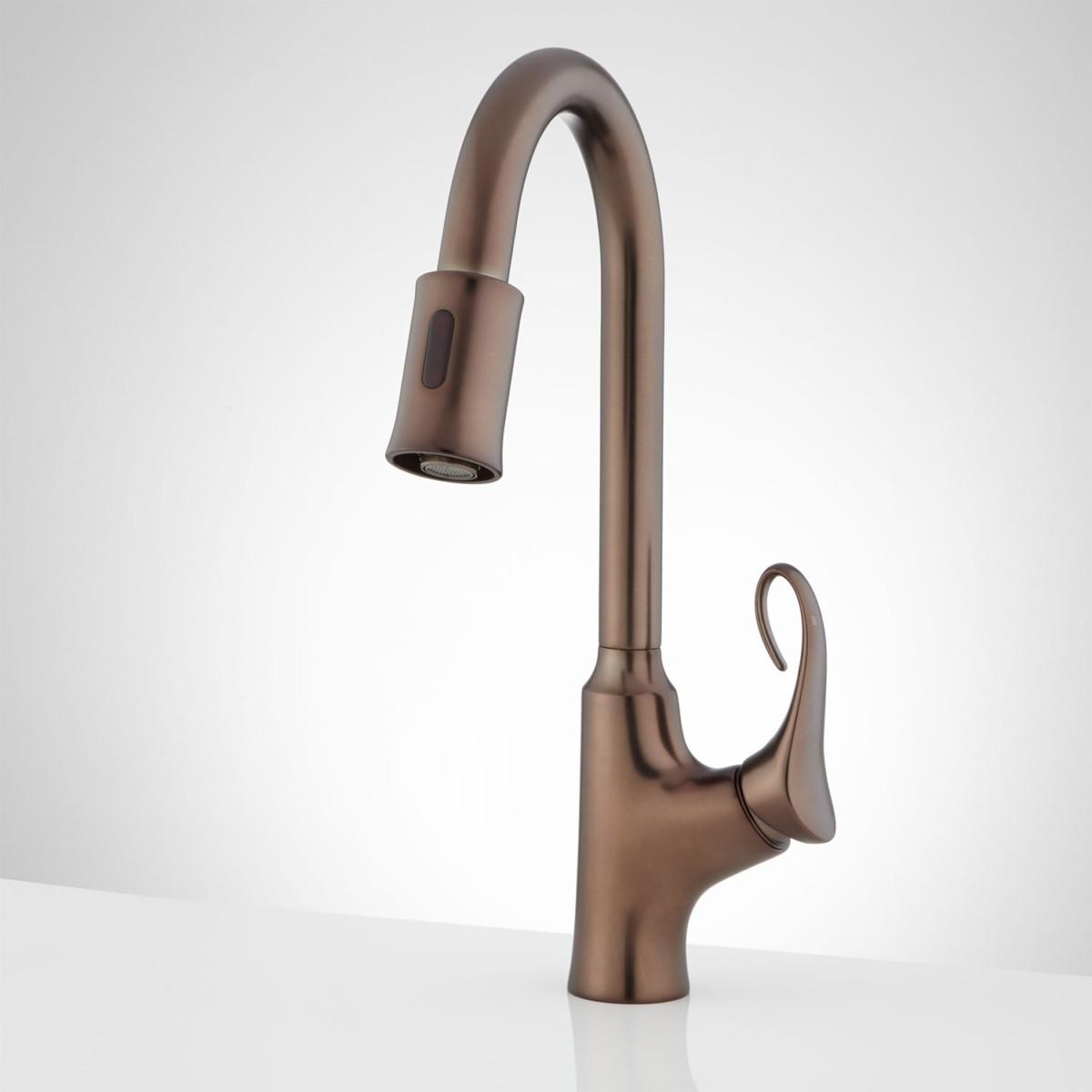 Waldron Single Hole Touchless Kitchen Faucet Oil Rubbed Bronze Front